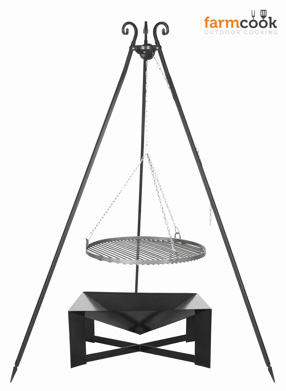 schwenkgrill set rost aus rohstahl dreibein viking inkl feuerschale. Black Bedroom Furniture Sets. Home Design Ideas